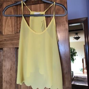 Bright yellow tank top from pacsun